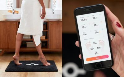 Meet the world's first smart bath mat that can scan your weight, BMI, posture, and even recognize your footprint